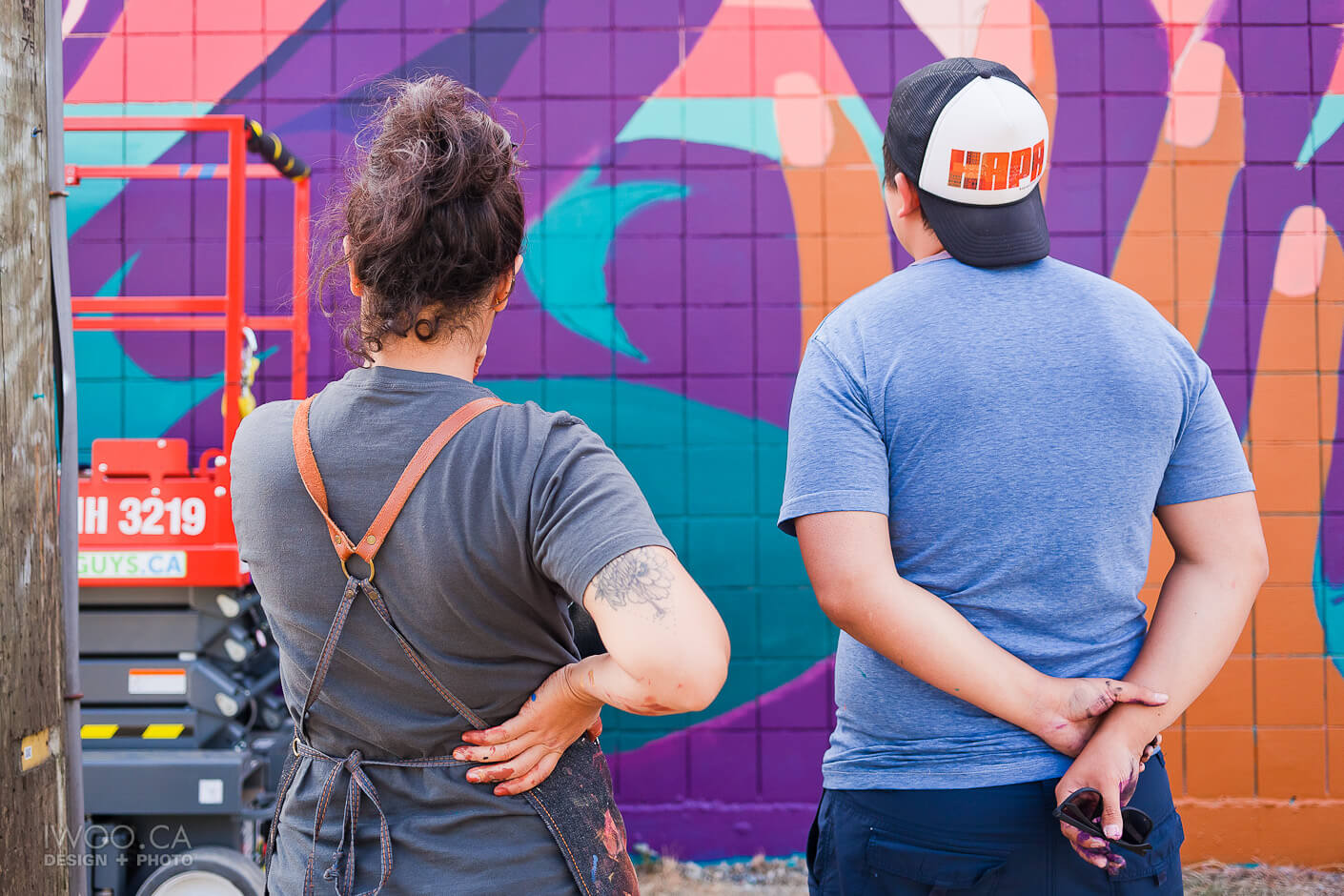 Arbutus Mural: Lauren Brevner + James Harry